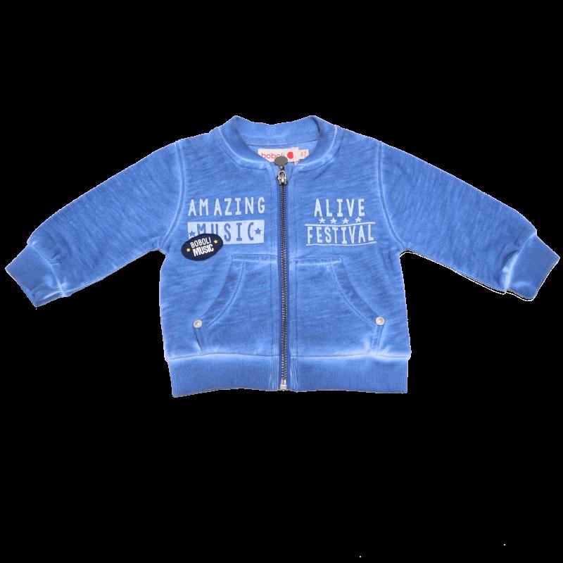 Hanorac albastru decolorat