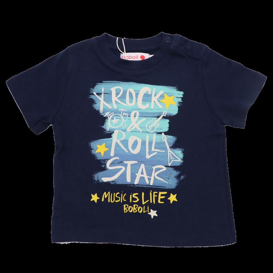 Tricou bleumarin Rock & Roll Star