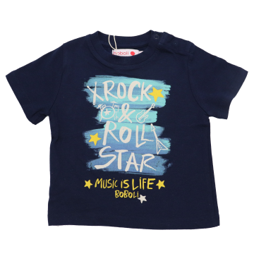 Tricou bleumarin Rock & Roll Star