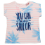 Tricou You Can be a Sailor cu fermoar la spate