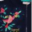 Hanorac subțire bleumarin cu imprimeu Tropical paradise