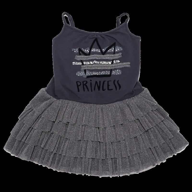 Rochiță gri Princess cu bretele reglabile