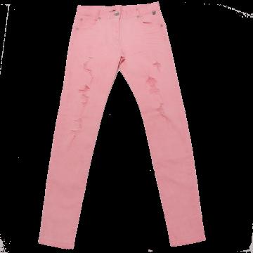 Jeans roz tăiați