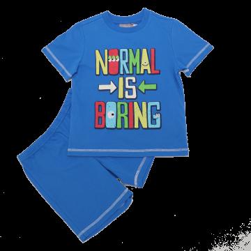 Pijama cu mânecă scurtă Normal is Boring
