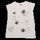Tricou alb cu imprimeu coroane