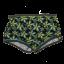 Costum de baie verde cu imprimeu retro