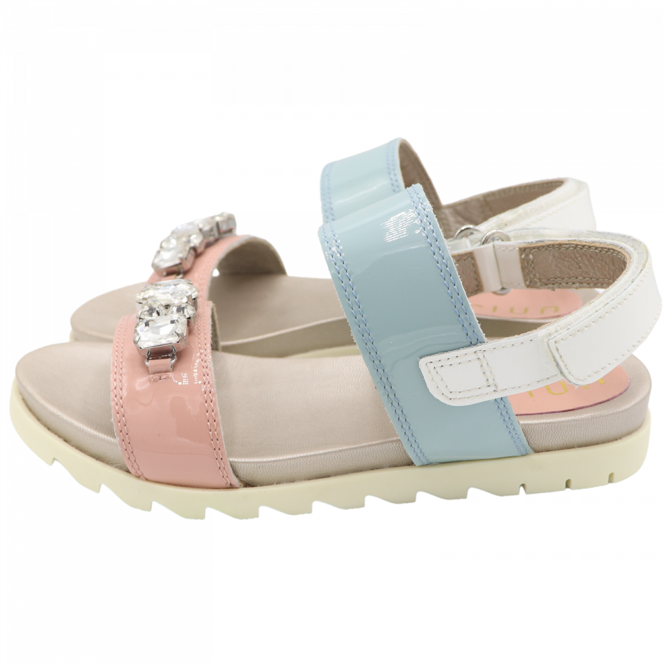 Sandale din piele naturală cu pietricele
