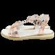 Sandale rosegold cu piele lacuită