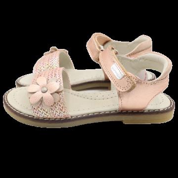 Sandale din piele naturală cu arici, rosegold. Garvalin. Mărimea 28