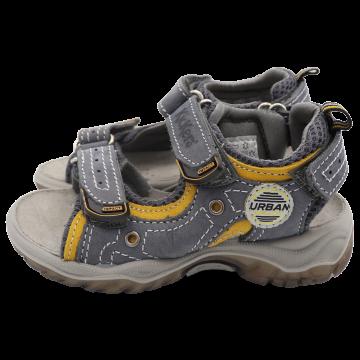 Sandale din piele  gri/galben. Kickers. Mărimea 27