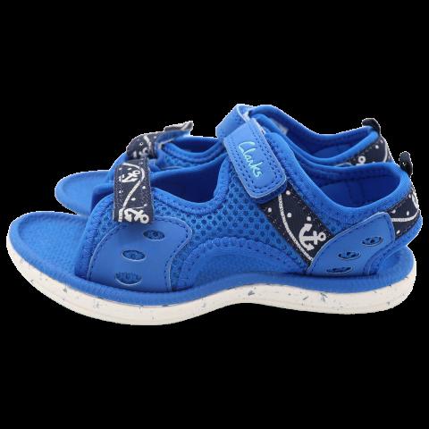 Sandale albastre din material textil. Clarks. Mărimea 25.5