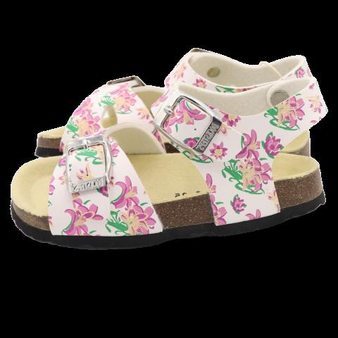 Sandale albe cu flori Docksteps, mărimea 32