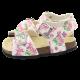 Sandale cu imprimeu floral