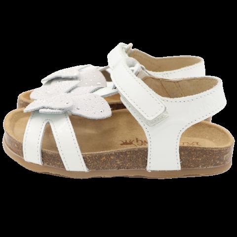 Sandale albe lacuite din piele naturală. Kipling. Mărimea 24