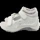 Sandale din piele naturală gri/argintiu