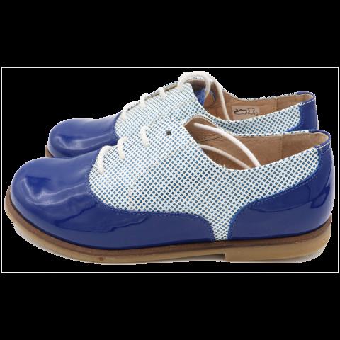 Pantofi albaștri din piele lăcuită