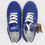 Pantofi sport albaștri din piele întoarsă