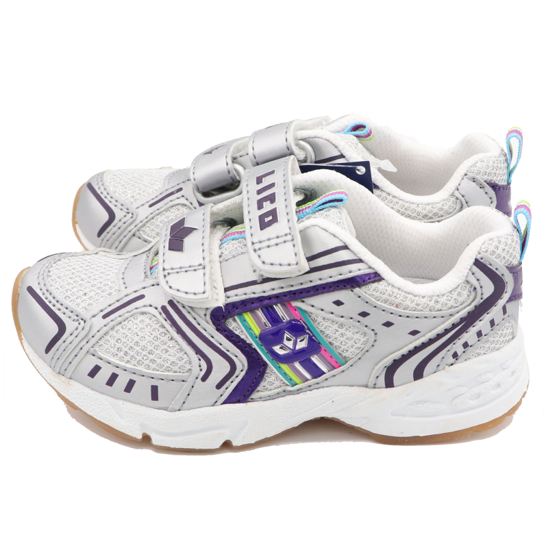 Pantofi sport gri cu sclipici