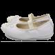 Balerini albi Clarks din piele și piele lăcuită