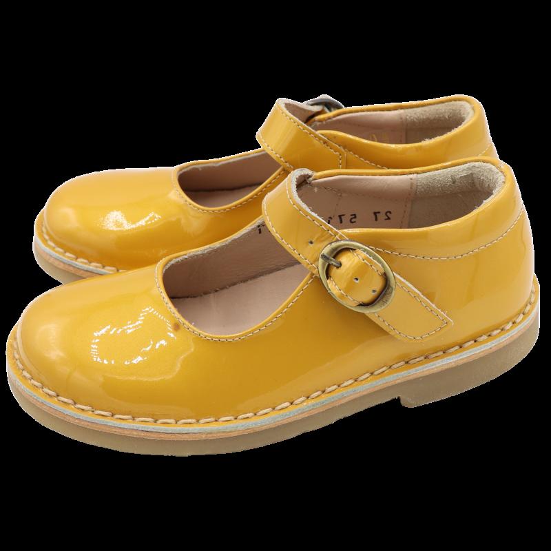 Pantofi din piele lăcuită