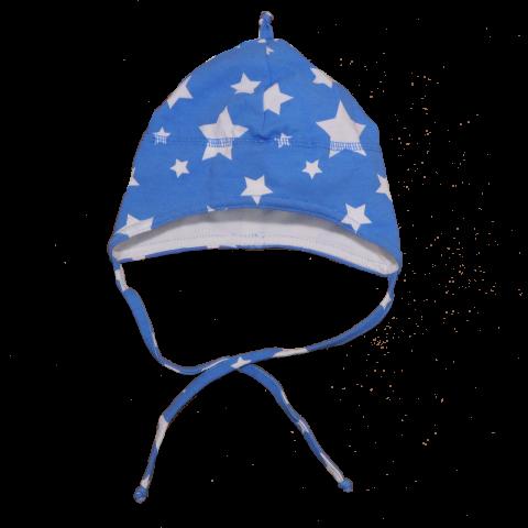 Căciuliță bleu cu steluțe albe