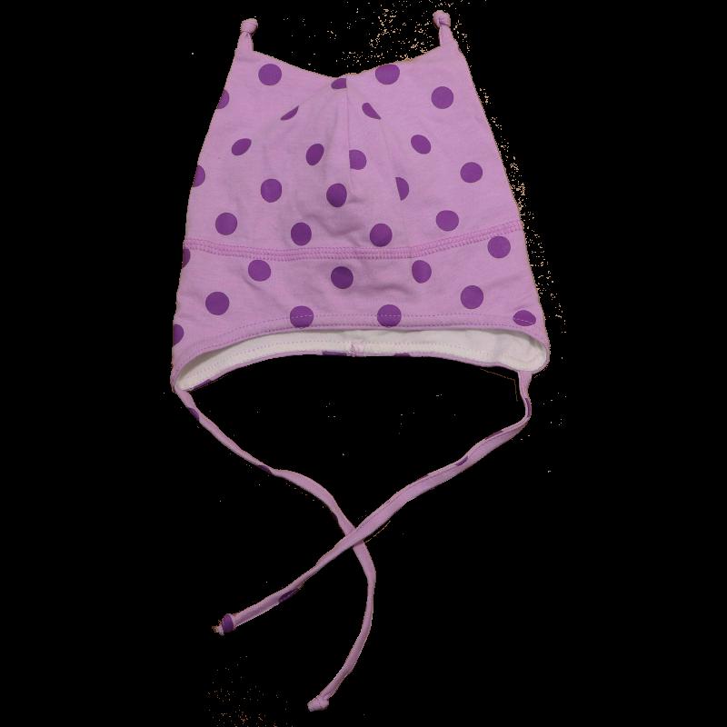 Căciuliță lila cu buline