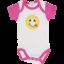 Set 2 body-uri cu mânecă scurtă și imprimeu emoji