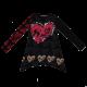 Bluză tip tunică cu imprimeu inimioare