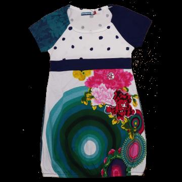 Rochie cu imprimeu floral și aspect bufant