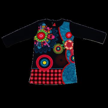 Bluză Elena cu imprimeu mandala din bumbac organic