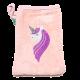 Mănușă de baie roz cu model unicorn