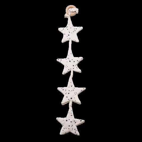 Accesoriu steluțe albe pentru cărucior sau pătuț