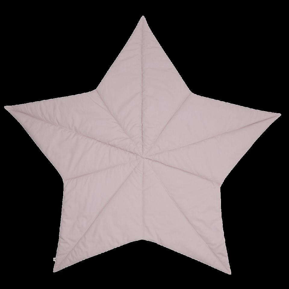 Salteluță de joacă în formă de stea roz, din bumbac organic pentru bebeluși