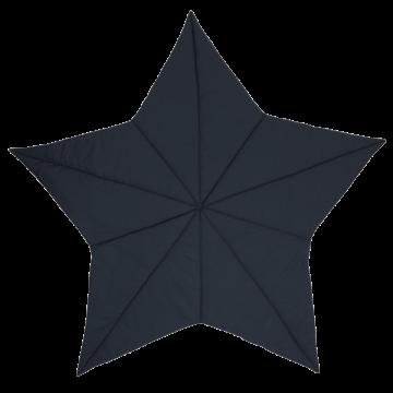 Salteluță de joacă în formă de stea bleumarin, din bumbac organic pentru bebeluși