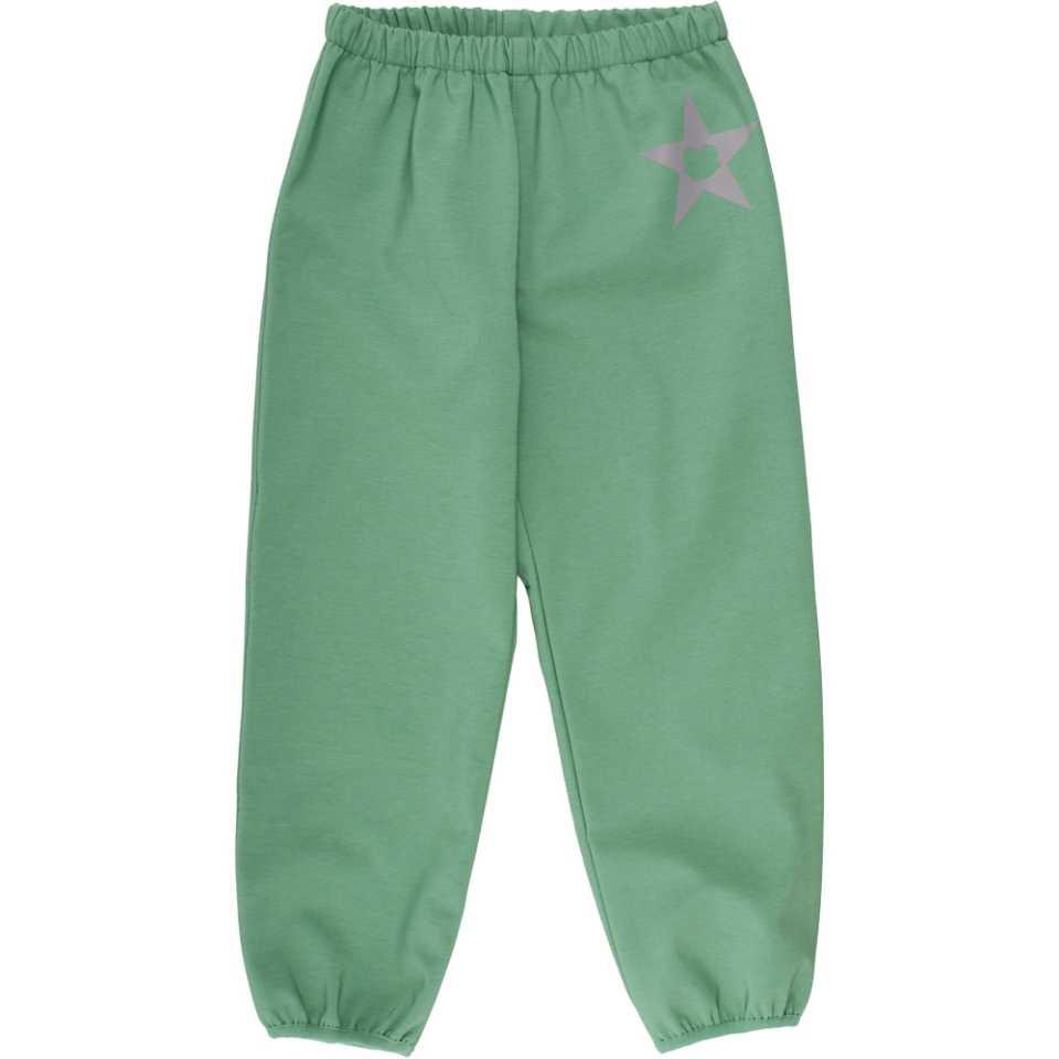 Pantaloni softshell verzi cu polar în interior