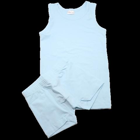 Set maiou și boxeri bleu pudrat pentru copii