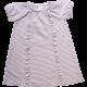 Rochie cu mânecă scurtă cu dungi și volane