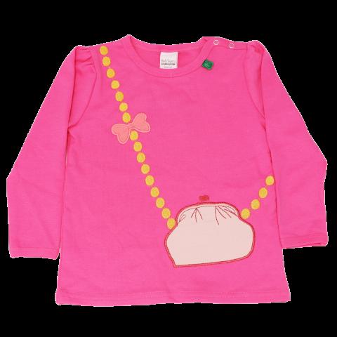 Bluză roz fucsia cu imprimeu cusut gentuță