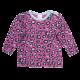 Bluză violet cu mânecă lungă și imprimeu