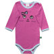 Body violet cu mânecă lungă și imprimeu cusut pisicuță