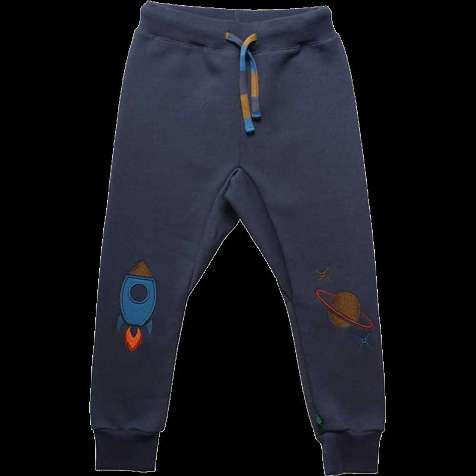 Pantaloni de trening din bumbac gros cu imprimeu rachetă