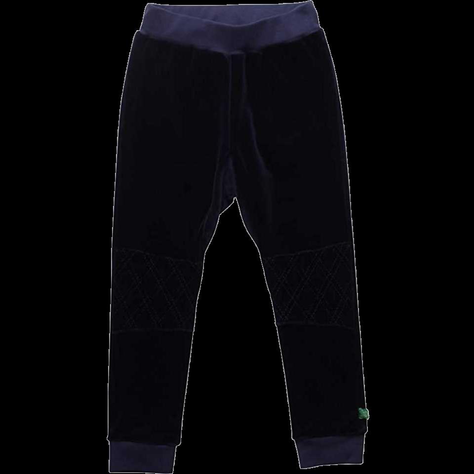 Pantaloni bleumarin din catifea