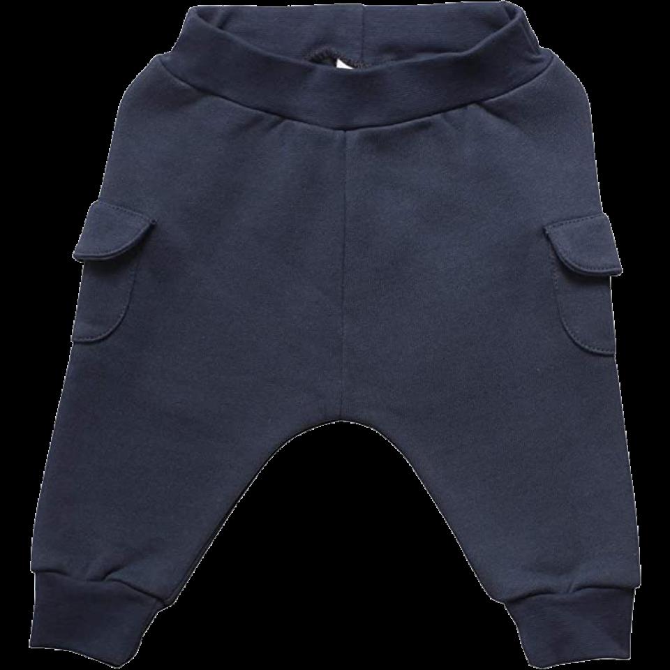 Pantaloni din bumbac gros cu buzunare laterale