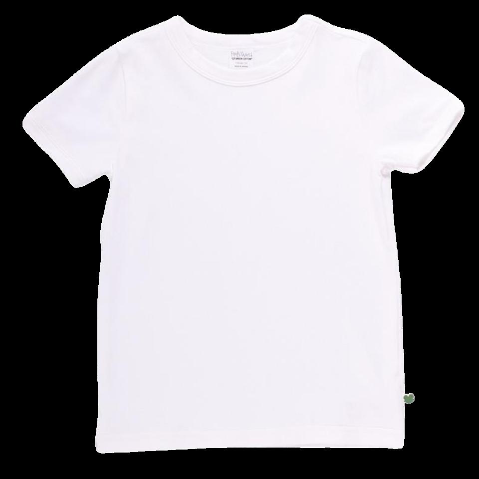Tricou Alfa alb cu mânecă scurtă