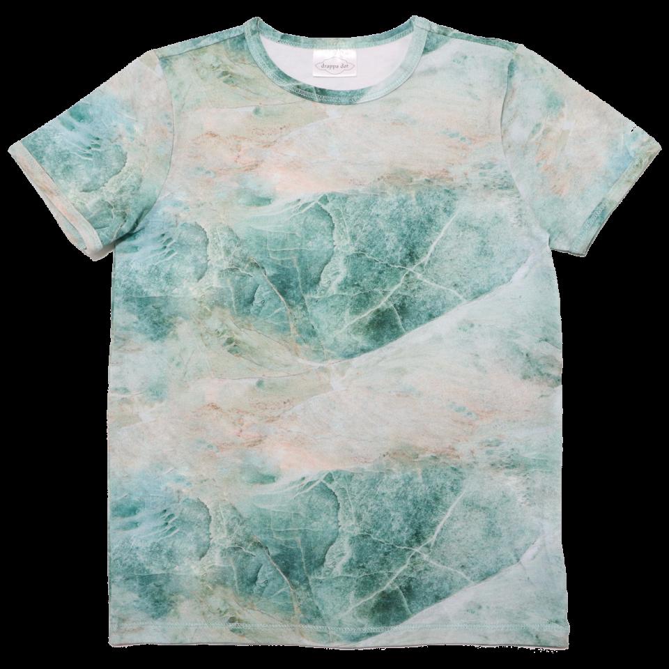 Tricou verde cu imprimeu marmură