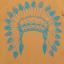 Tricou maro cu imprimeu pene indian