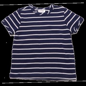 Tricou bleumarin cu dungi albe