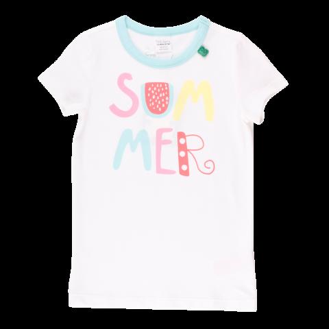 Tricou alb cu imprimeu text Summer