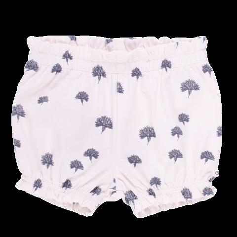 Pantaloni scurți bloomers albi cu imprimeu păpădii