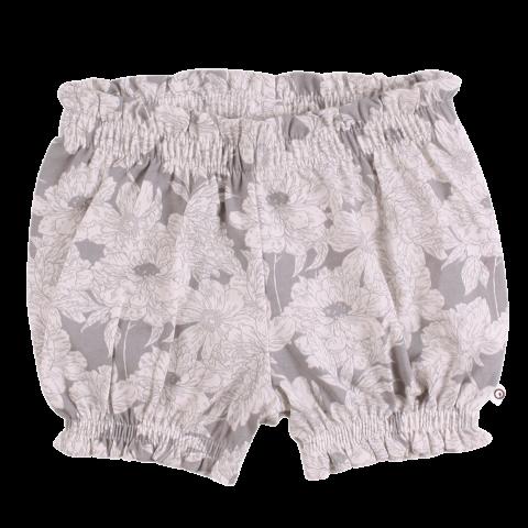Pantaloni scurți bloomers albi cu imprimeu floral